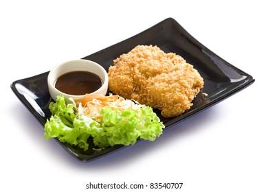 Japanese TonKatsu, Pork chop deep fried