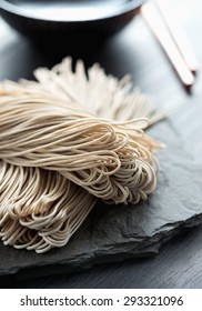 Japanese traditional buckwheat noodle soba