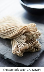 Japanese traditional buckwheat soba noodle