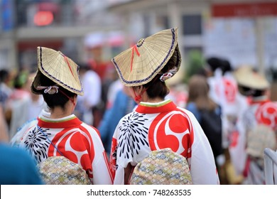Japanese traditional costume in a festival