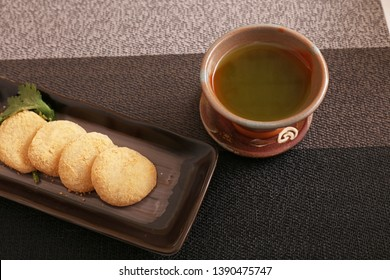 Japanese traditional delicious sweets in a dish.