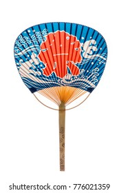 Japanese traditional fan a uchiwa