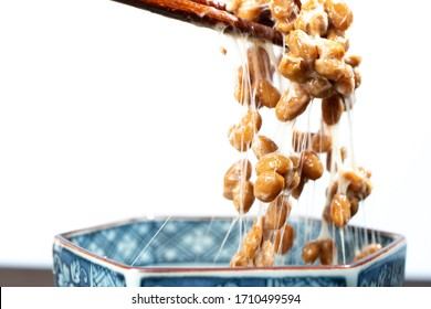 """Japanese traditional fermented healthy food """"natto"""" made from soya beans. It stinks, but gives you a lot of health benefits!"""