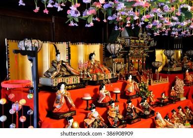 """Japanese traditional festival for girls """"Hina-matsuri"""" in spring"""