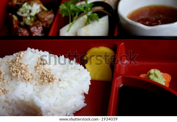 Japanese traditional food and culinary accessories