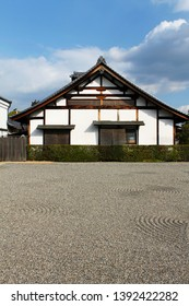Japanese Traditional House with a rock zen rock garden.