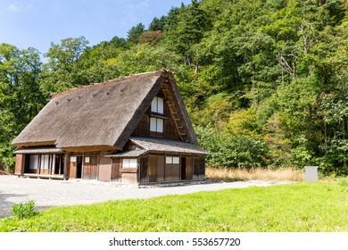 Japanese traditional house in Shirakawa