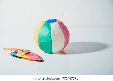 japanese traditional paper balloon on white background