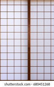 Japanese traditional paper wall background