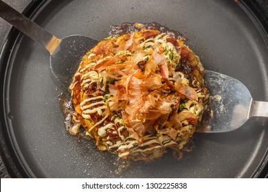 Japanese Traditional Pizza Okonomiyaki