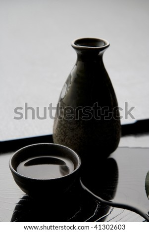 Japanese Traditional Sake Serving Set On Stock Photo Edit Now