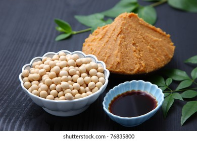 Japanese traditional soybean processed foods