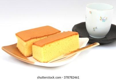 Japanese traditional Japanese sweet sponge cake-kasutera