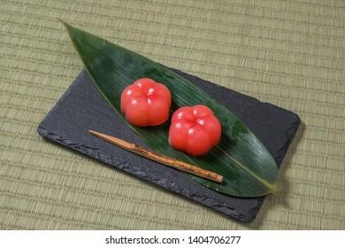 Japanese traditional sweets (Japanese sweets wagashi)