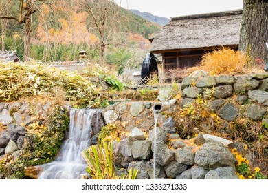 Japanese traditional thatch roof house