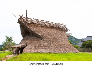 Japanese traditional thatch roof house. Tango, Kyoto prefecture, Japan