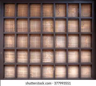 Japanese traditional wooden shade as background