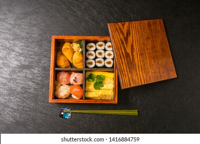 japanese Typical lunch box (bento)