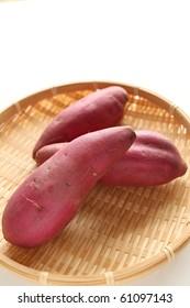 Japanese vegetable, sweet potato in autumn