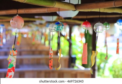 Japanese wind chimes , Summer feature of Japan