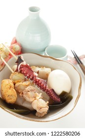 Japanese winter cuisine, seafood and fish cake oden