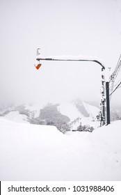 Japanese winter landscape