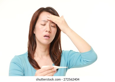 Japanese woman with fever