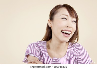 Japanese woman with a smile