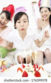 Japanese women at a Party