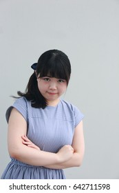 Japanese women who angrily inflate their cheeks