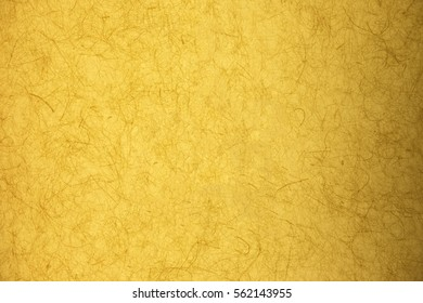 Japanese yellow mulberry paper texture background, filtered