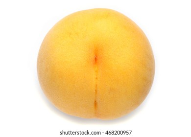 Japanese yellow peach isolated