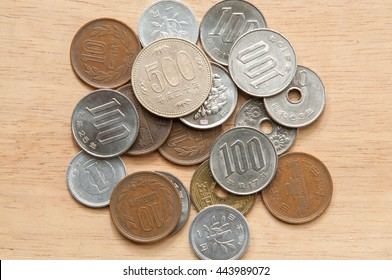 Japanese yen coins.