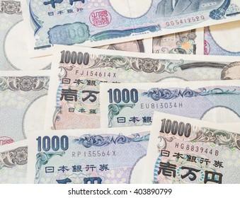 Japanese yen currency, Japan money