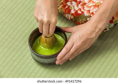 Japanese-style tea ceremony