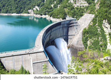 Japan's largest dam , Kurobe dam