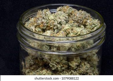 Jar of Cannabis Buds