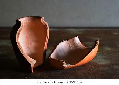 jar Clay pot broken