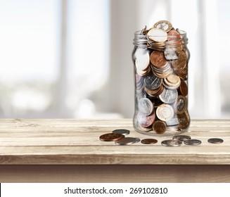 Jar, Coin, Savings.