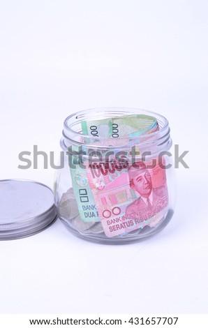 Jar Full Indonesian Rupiah Notes Stock Photo Edit Now 431657707