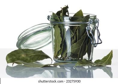 Jar of herbs
