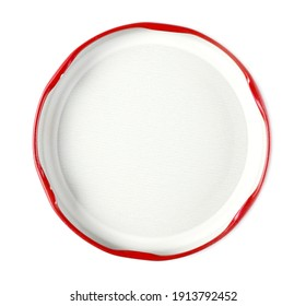 Jar lid isolated on white background, top view - Shutterstock ID 1913792452
