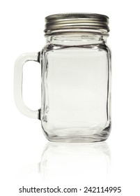 Jar mug is ready for your design. The file includes a clipping path so it is easy to work with.
