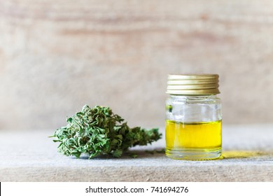 jar of oil and cannabis