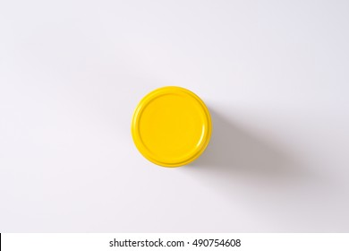 jar of pickled cucumbers on white background - Shutterstock ID 490754608