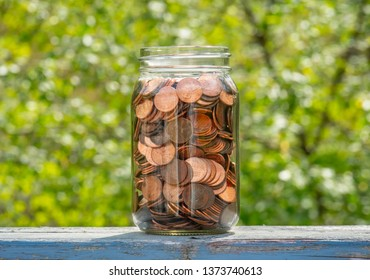 Jar of Saved Pennies, Outdoors
