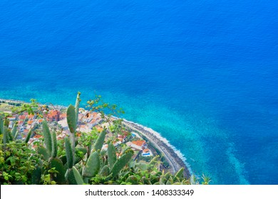 The Jardim do Mar and Prazeres viewpoint on the islant of Madeira in Atlantic ocean Portugal
