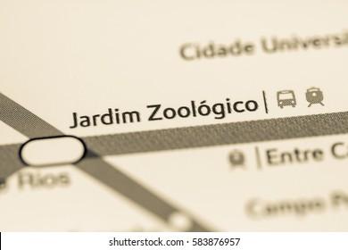 Jardim Zoologico Station. Lisbon Metro map.