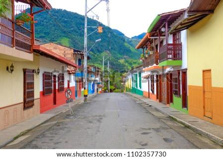 Jardin Antioquia Colombia Empty Colourful Streets Stock Photo Edit