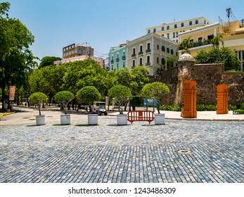 Jardin de la Princesa Park and Plaza de Hostos, Old San Juan, Puerto Rico, USA